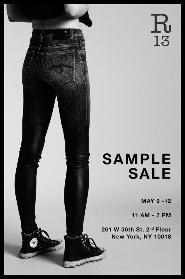 R13 x Nili Lotan Spring Sample Sale, New York, May 2016