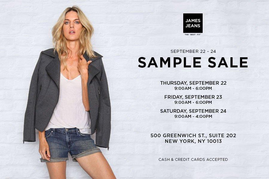 James Jeans Sample Sale, New York, September 2016