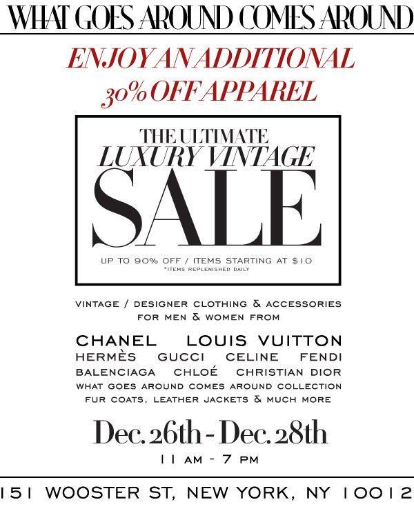 What Goes Around Comes Around Vintage Sale, New York, December 2016