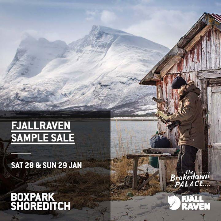 Fjällräven Sample Sale, London, January 2017