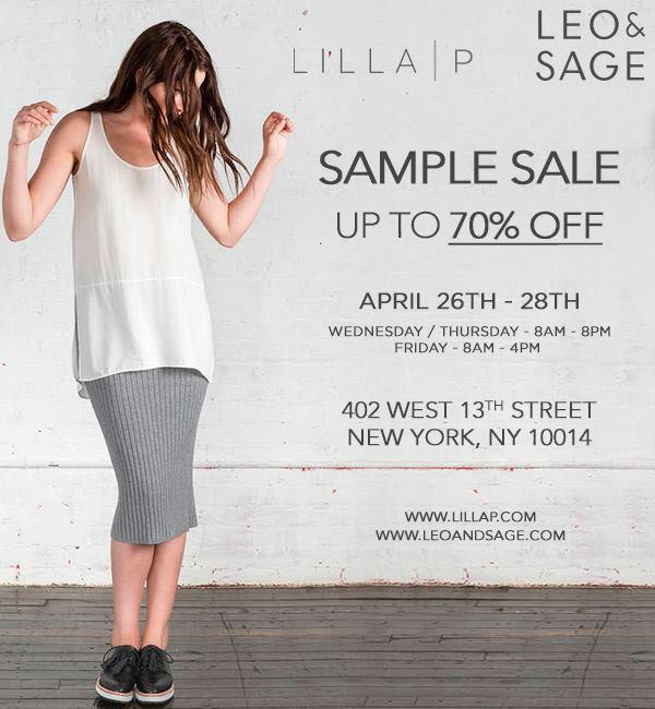 Lilla P x Leo & Sage Sample Sale, New York, April 2017