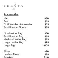 Sandro Sample Sale