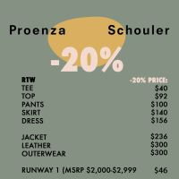 Proenza Schouler Sample Sale