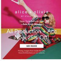 alice + olivia Sample Sale