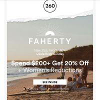 Faherty Sample Sale