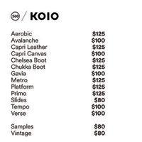 Koio Sample Sale